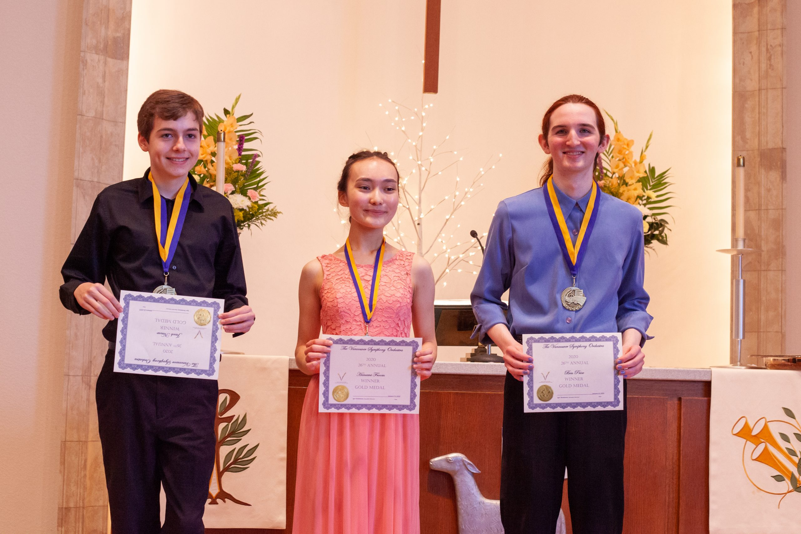 Three Outstanding Gold-Medalists from the 26th Annual Young Artists Competition to Perform with Vancouver Symphony Orchestra in April